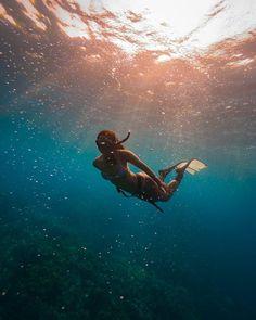 Foto submersa incrível com mergulhadores em Oahu Havaí de John Kowitz Ocean Underwater, Underwater Pictures, Ocean Pictures, Beautiful Ocean, Beautiful Beaches, Oahu, Sea Diving, Water Day, Underwater Photographer