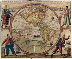The guess of the Americas in 1492 Vintage Maps, Antique Maps, Spain History, Map Globe, Old Maps, What A Wonderful World, Geography, South America, American History