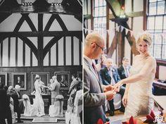 Historical Merchant Adventurers' Hall in the heart of York City Centre. Wedding vows. Wedding rings. Wedding service. Bride and Groom. Yorkshire Wedding Photography www.jamesandlianne.com