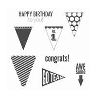 Playful Pennants Clear-Mount Stamp Set