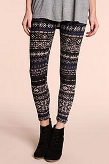 Wintery leggings. I need some of these