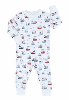 Kissy Kissy Infant   Toddler Boys Harborside Navy Blue Boats Print Pajamas 963d25028