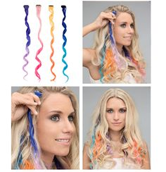 My little pony hair #ombre #pink #lightpink #yellow #orange #blue #lilac #purple #turquoise #curly#fakehair #hairstripe #hairdecoration #hairproducts #hairproduct #glitter #hair #hairguide #thehairguide #glitterhaireverywhere#mylittlepony