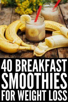 Simple Meal Prep: 40 Make Ahead Breakfast Smoothies for Weight Loss - Breakfast - Healty Recipes Make Ahead Smoothies, Breakfast Smoothies For Weight Loss, Weight Loss Smoothies, Healthy Smoothies, Healthy Drinks, Healthy Fats, Simple Smoothies, Green Smoothies, Diet Drinks