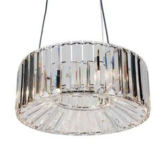Add an opulent feel to your room with this circular clear ceiling fitting, featuring sparkling acrylic prisms which are each detailed with a chrome finish. This...