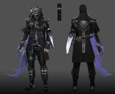 Kingsglaive Final Fantasy XV Nyx Ulric Concept Art ( Full Armor w/ Cowl)