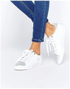 reputable site 3a8ad 3cfa9 Image 1 of Gola Orchid Metallic CLA668 White  Silver Trainers Silver  Trainers, Mode Online