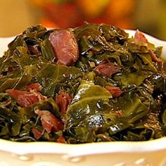 Neely's Best Collard Greens Recipe from Down Home with the Neely's on Food Network.Gina Neely's Best Collard Greens Recipe from Down Home with the Neely's on Food Network. Food Network Recipes, Cooking Recipes, Healthy Recipes, Cooking Games, Cooking Classes, Vegan Soul Food Recipes, Soul Food Meals, Oven Recipes, Recipes Dinner