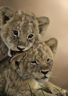 The Lion Cubs by josephinekazuki