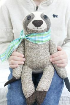 Sock Monkey Sloth Doll, Plush