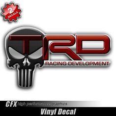 TRD Punisher Skull Stickers - Aftershock Decals