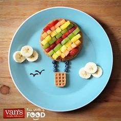 Take your breakfast to new heights with these fun hot air balloon waffles!