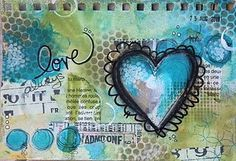 Love these colors...and the heart, of course.