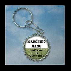 Marching Band bottlecap keychain Plain or by FlipflopBottlecaps