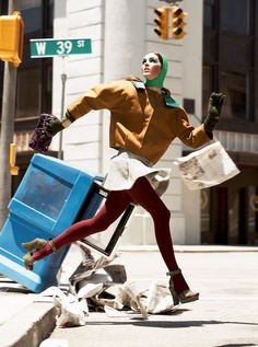 Hilary Rhoda in To Serve and Protect for Vogue, October 2006 Shot by Steven Meisel Styled by Edward Enninful Image Fashion, Foto Fashion, Fashion Shoot, Fashion Art, Green Fashion, Woman Fashion, Fashion Details, Fashion Trends, Vogue Editorial