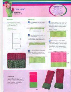 Tejidos en crochet y dos agujas: Mitones o Manoplas PAP