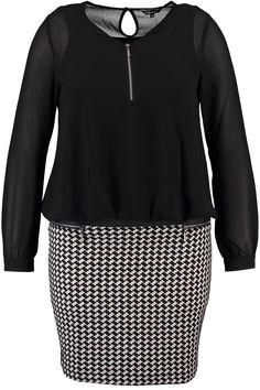 Dress | Black & White | Fashion | Plussize fashion | Jurk | Zwart & wit