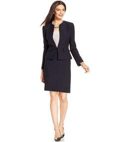 Tahari ASL Petite Textured Skirt Suit - Wear to Work - Women - Macy's