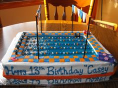 Swimming Pool Cake Designs | Olympic Pool Birthday Cake / Swim Team / Swimmer - Cake Decorating ...