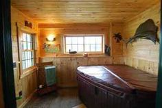 Indoor Hot Tub Room - Bing Images Hot Tub Room, Home Porch, Winter Cabin, Tiki Room, Hot Tubs, Sunroom, Home Remodeling, Retirement, Bing Images