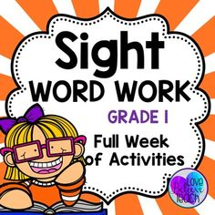 Sight Word Work Grade 1 Second Grade Sight Words, First Grade Words, Pre Primer Sight Words, Class Rules Poster, Spelling Help, Reading Assessment, Bell Work, Guided Reading Groups, High Frequency Words