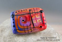Passion Art Glass Lampwork Focal Bead by Michou by michoudesign