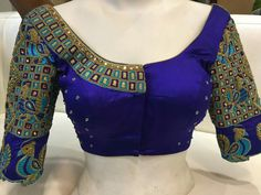 Saree Jacket Designs, Pattu Saree Blouse Designs, Blouse Designs Silk, Designer Blouse Patterns, Bridal Blouse Designs, Kids Blouse Designs, Simple Blouse Designs, Work Blouse, Cut Work