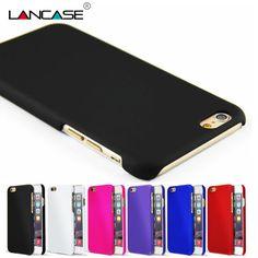 Voor iphone 6 case mode rubberen matte frosted plastic case voor iphone 6 s 6 7 plus 7 4 s 5 s gevallen cover voor iphone 6 7 5 s 4