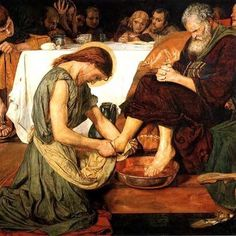 """Do you realize what I have done for you? You call me 'teacher' and 'master,' and rightly so, for indeed I am.  If I, therefore, the master and teacher, have washed your feet, you ought to wash one another's feet. I have given you a model to follow, so that as I have done for you, you should also do.""John 13:13-15"