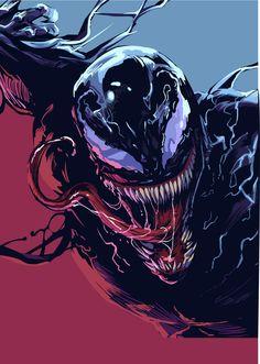 Venom movie fan art a project by heber_nimrod. Spiderman Venom, Marvel Venom, Marvel Villains, Spiderman Art, Marvel Heroes, Marvel Avengers, Venom Comics, Marvel Comics Art, Art Venom