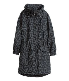 Check this out! Oversized parka in textured woven fabric with a hood. Concealed zip and snap fasteners at front and drawstring at waist. Two chest pockets, side pockets with flap and snap fastener, and elasticized cuffs. Unlined. - Visit hm.com to see more.