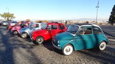 colours from FIAT 500 vintage in Rome