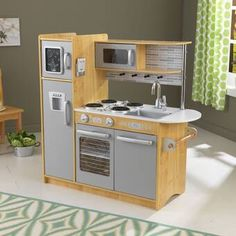 Looking for Uptown Kitchen Set KidKraft ? Check out our picks for the Uptown Kitchen Set KidKraft from the popular stores - all in one. Wooden Play Kitchen Sets, Toy Kitchen Set, Kitchen Kit, Life Kitchen, Micro Kitchen, Basement Kitchen, Kitchen Ideas, Kitchen Island, Kitchen Decor
