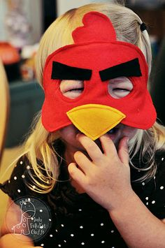 how to make an angry bird mask