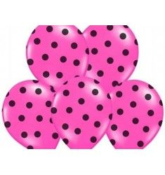 Ballons roses imprimés pois noirs Anniversaire Hello Kitty, Ballon Rose, Latex, Party Deco, Pastel Pink, Decoration, Confetti, Projects To Try, Polka Dots