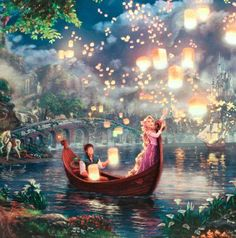 Tangled – x Gallery Wrapped Canvas - Thomas Kinkade Studios Gallery Wraps are perfect for any space. Each wrap is crafted with our premium canvas reproduction techniques and hand wrapped around a Thomas Kinkade Disney, Tangled Wallpaper, Wallpaper Iphone Disney, Emoji Wallpaper, Wall Wallpaper, Phone Wallpapers, Cute Disney, Disney Art, Disney Magic
