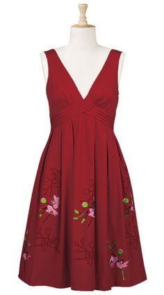 Floral pleat waist dress from eShakti