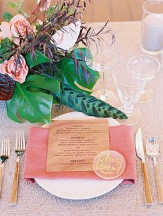 La Tavola Fine Linen Rental: Adelaide Smoke with Tuscany Sienna Napkins | Photography: Wendy Laurel, Planning: Unveiled Hawaii, Florals: Mei Day, Paper Goods: Shindig Bespoke, Rentals: Inspiration Event Hawaii, Calligraphy: Miss B Calligraphy, Venue: Montage Kapalua Bay