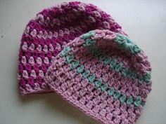 Crochet hat pattern crochet beanie pattern by Thehobbyhopper