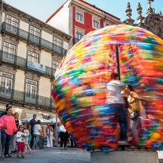 Putting a literal spin on playful art installations, the firm Micro Atelier de Arquitectura de Arte created a giant rotating sphere in Porto, the second-largest city in Portugal. Known as GiRA, the vibrant orb is made with traditional St. John's hammers, which serve as a symbol for the coastal city's Festival of St. John, a tribute to St. John the Baptist held each summer.