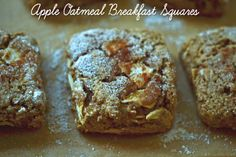 Gluten-Free Apple Oatmeal Breakfast Squares (use Earth Balance dairy-free, soy-free for butter alternative)