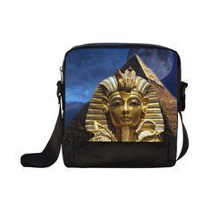 King Tut and Pyramid Crossbody Nylon Bag. FREE Shipping. #artsadd #bags #egypt