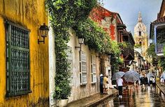 Aún bajo la lluvia, Cartagena de indias sigue siendo hermosa.