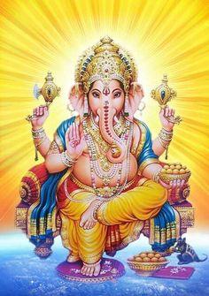 Shri Ganesh Images, Hanuman Images, Ganesha Pictures, Lord Ganesha Paintings, Ganesha Art, Ganesh Idol, Ganesha Tattoo Lotus, Lotus Tattoo, Tattoo Ink