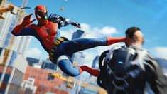 """Marvel and Insomniac Games have released a new trailer for the third DLC for the Spider-Man video game, """"The City That Never Sleeps,"""" with Silver Lining. Marvel News, Marvel Dc, Spiderman Marvel, Marvel Characters, Marvel Movies, Comic Movies, Spider Man Ps4 Game, Marvel Video Games"""