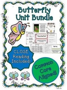 Butterfly Unit ~ Close Reading ~ Text Dependent Questions : We have developed this Common Core aligned complete Butterfly Unit with CLOSE Reading passages, text dependent questions, and essential questions that contains everything needed to teach a rigorous unit on butterflies.