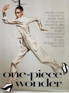 """US Vogue February 2009 """"One-Piece Wonder"""" Models: Jourdan Dunn, Anna Jagodzinska, Chanel Iman, Raquel Zimmermann, Liya Kebede & Karlie Kloss Photographer: David Sims"""