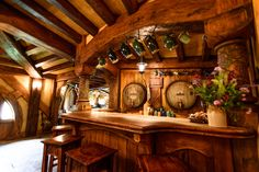 The Green Dragon bar...great ASTHETICS for our kitchen, love the wood coloring