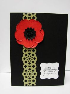 Pear & Poppy Sympathy by TinyAcorns - Cards and Paper Crafts at Splitcoaststampers