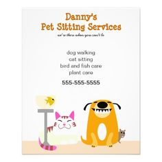 Pet Sitting Business Flyer | Pet sitting business and Pet sitting